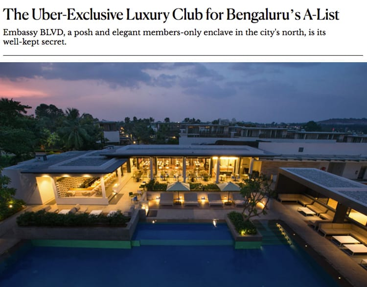 The-Uber Exclusive Luxury Club for Bengaluru's A-List